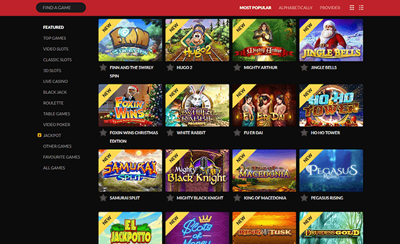 A wide range of incredible slot games at Guts Casino