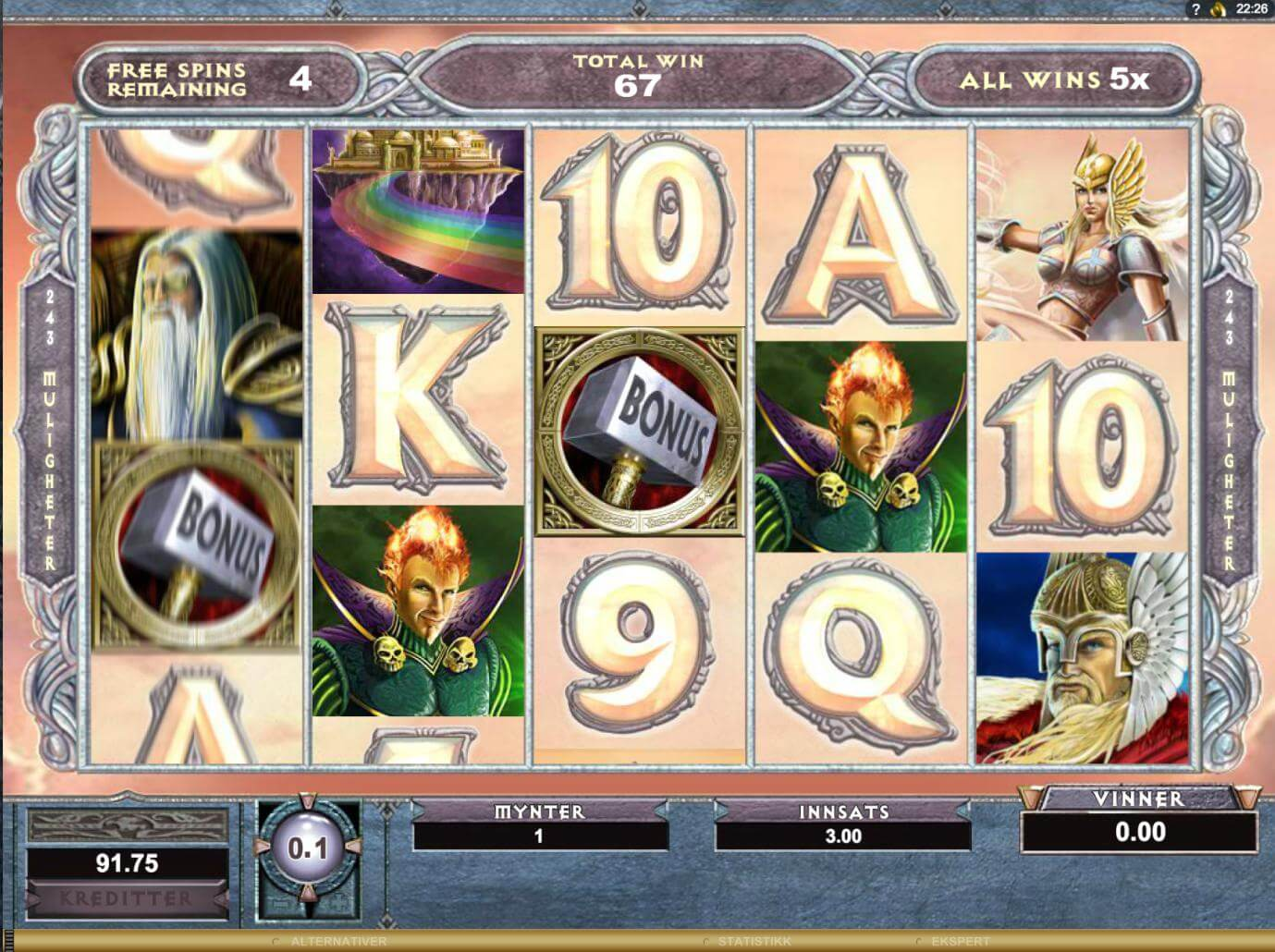 Thunderstruck II free spins