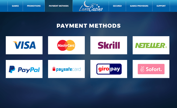 Huge range of payment methods available.
